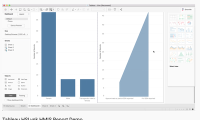 Creating Tableau reports while connected to HSLynk's Big Data Warehouse